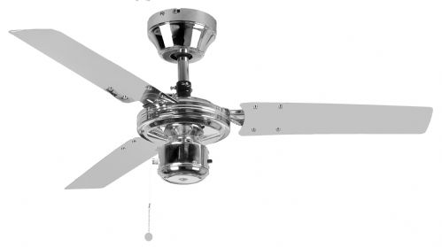 "Eurofans Kroma 36"" Chrome Ceiling Fan 111986"